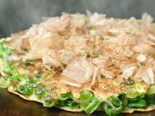 Scallion okonomiyaki