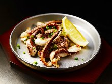 Squid tentacle teppanyaki