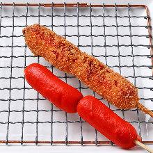 Fried wiener skewer