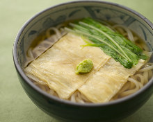 Wheat noodles with Yuba (tofu skin)