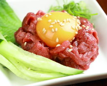 Horse meat tartare