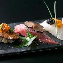 Assorted nigiri sushi, 3 kinds