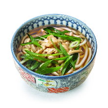 Wheat noodles with sweet fried tofu