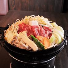 "Mongolian mutton barbecue (""Jingisukan""), teppanyaki-style"