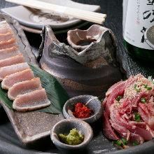 Assorted chicken sashimi