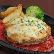 Cheese hamburger steak