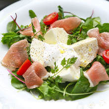 Prosciutto and cheese salad