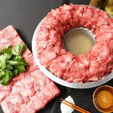 Beef tangue base shabu-shabu