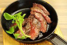 Beef bottom flap steak