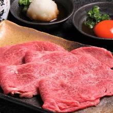 Beef loin shabu-shabu