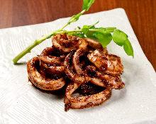 Stir-fried squid liver