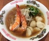 Ramen with shrimp