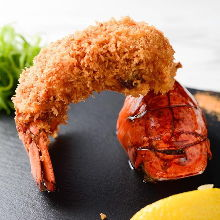 Deep-fried lobster