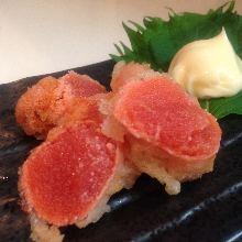 Mentaiko tempura
