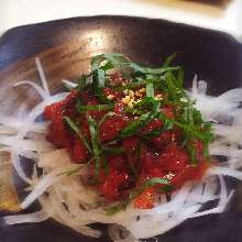 Jellyfish with pickled plum