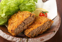 Minced horse meat cutlet