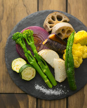 Assorted grilled vegetables of the day