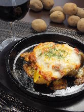 Grilled potato with cheese