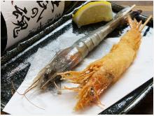 Fried shrimp skewer