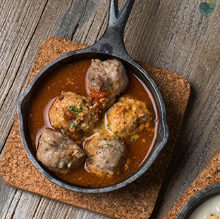 Boiled meatball soup