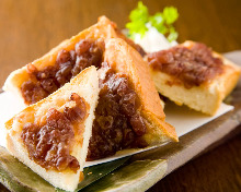 Ogura toast (toast with red bean paste)