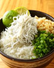 Baby sardine rice bowl