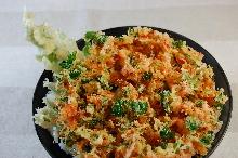 Mixed tempura and small shrimp rice bowl