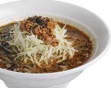 Ramen noodles with dipping black sesame dandan sauce