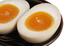 Flavored boiled egg (topping)