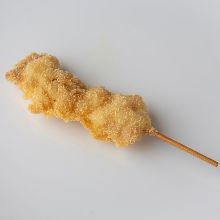 Fried chicken thigh skewer