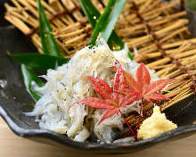 Whitebait with grated daikon