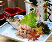 Namero (chopped and seasoned seafood)