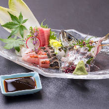 Yellowtail amberjack sashimi