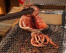 Lightly-dried squid