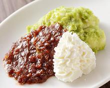 Daifuku (rice cake with red bean paste filling)