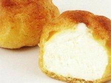 Cream puff with ice cream filling