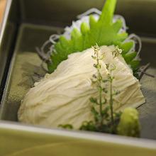 Raw yuba (tofu skin)