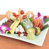 Assorted Seafood and Seasonal Vegetables