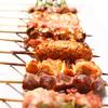 Grilled Chicken Skewers (skin/leg/gizzard/chicken with green onion/chicken meat ball with rock salt)