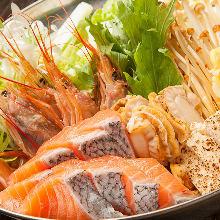 Seafood sumo wrestlers' stew