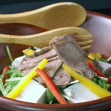 Beef shabu-shabu salad