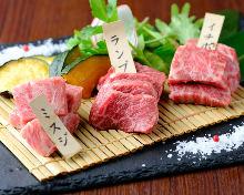 Assorted steaks, 3 kinds