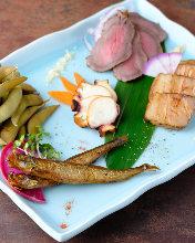 Assorted smoked foods, 5 kinds