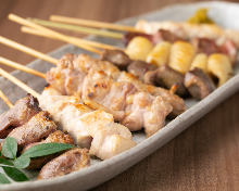Assorted grilled chicken skewers, 10 kinds