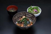 Pork kimchi meal set