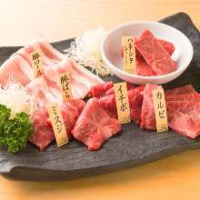 Assorted Wagyu beef, 6 kinds