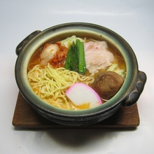 Wheat noodles in a spicy broth
