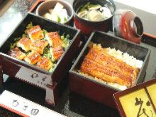 Unaju (broiled eel and rice) meal set