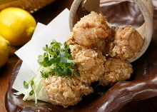Fried chicken white soy sauce flavor