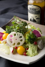 Salad with root vegetables and seasonal vegetables